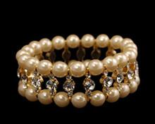Ivory Pearl, Rhinestone Bracelet