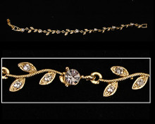 Clear Crystal and Gold Flower Bracelet