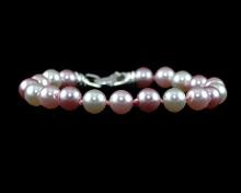 Pink, Mauve, White Pearl Bracelet
