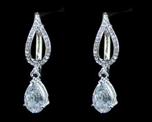 Silver Hoop Earring with 3ct CZ (Cubic Zirconium)