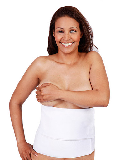 Unisex Abdominal Post-Op Recovery Binder for tummy tucks, body lifts and liposuction of the abdomen.
