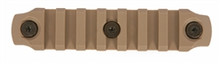 "BCM Gunfighter KeyMod 4"" Nylon Rail Section - FDE"