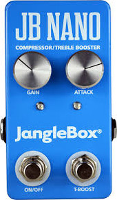 The JangleBox Nano Compressor Treble Booster guitar pedal