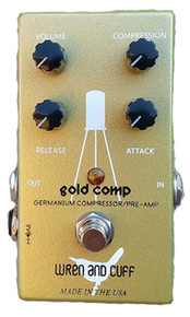 Wren and Cuff Gold Compressor pedal