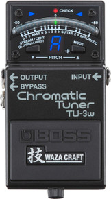 BOSS TU-3W Waza chromatic tuner guitar pedal