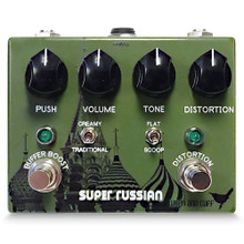 Wren and Cuff Super Russian Fuzz Muff Overdrive Guitar Pedal
