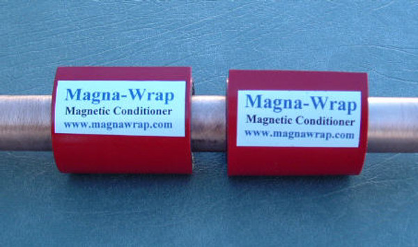 """2 lengths of Magna-Wrap shown installed on a 3/4"""" pipe. New Picture Coming Soon."""