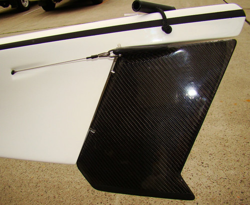 100% Clear Coat Carbon Rudder (this version is the Standard Rudder)