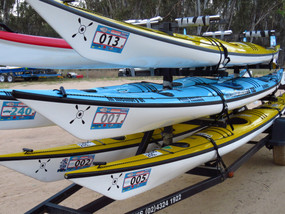 MMP 2018 DOUBLE Kayak or Surfski Rental inc trailer space