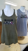 Mountain Logo Ladies Tank Tops - Military Green