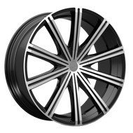 Kronik Epiq 404 Wheels Rims Black Machined 26x9.5 5x4.75 (5x120.65) 5x127 15 | 4042690615MB