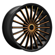 Kronik Kush 406 Wheels Rims Black Copper 26x9.5 5x4.75 (5x120.65) 5x127 15 | 4062690615BC