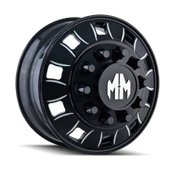 Mayhem Bigrig Dually 8180 Front Wheels Rims Black 24.5x8.25 10x285.70 168 | 8180-245810BMF