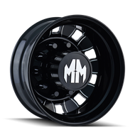 Mayhem Bigrig Dually 8180 Rear Wheels Rims Black 24.5x8.25 10x285.70 -168 | 8180-245810BMR