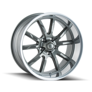 Ridler 650 Wheels Rims Grey Polished 20x8.5 5x127 0 | 650-2873G