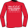 Merry Crashmas T-Shirt-Red (Youth)