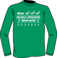 Merry Crashmas T-Shirt-Green (Youth)