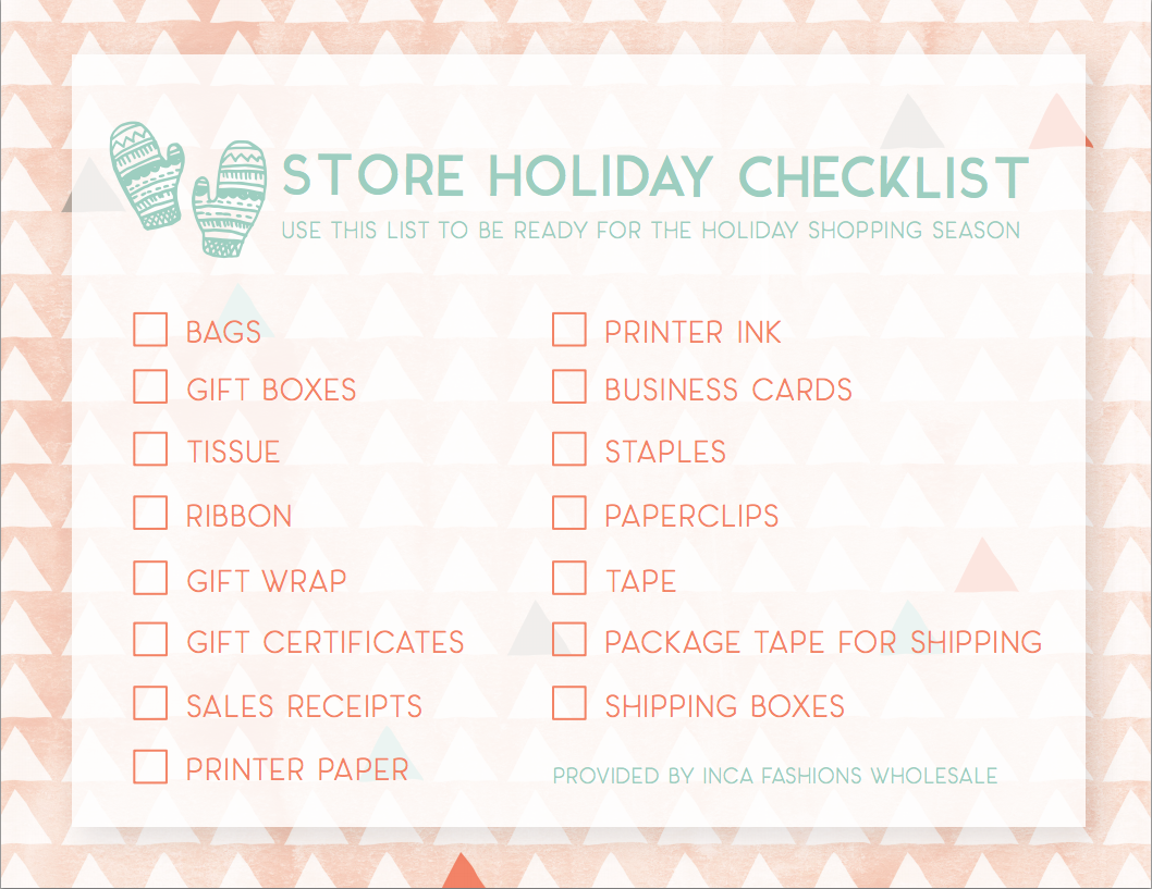 Holiday Store Checklist