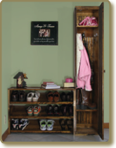 Locker Cabinet & Shoe Rack