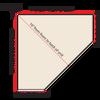 Top-Down diagram showing corner shelf measurements