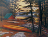 """""""Campsite"""" print for coffee table"""
