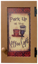 """Perk Up"" print shown in an Old Toffee door"