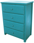 Shown in two coats of Turquoise - no distressing