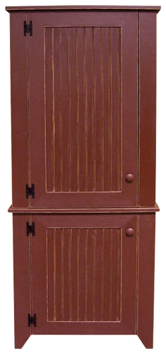 Shown in Old Burgundy with Beadboard doors