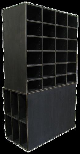 Custom Large Black Cubby Storage