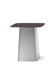 Top chocolate/base white Metal Side Table