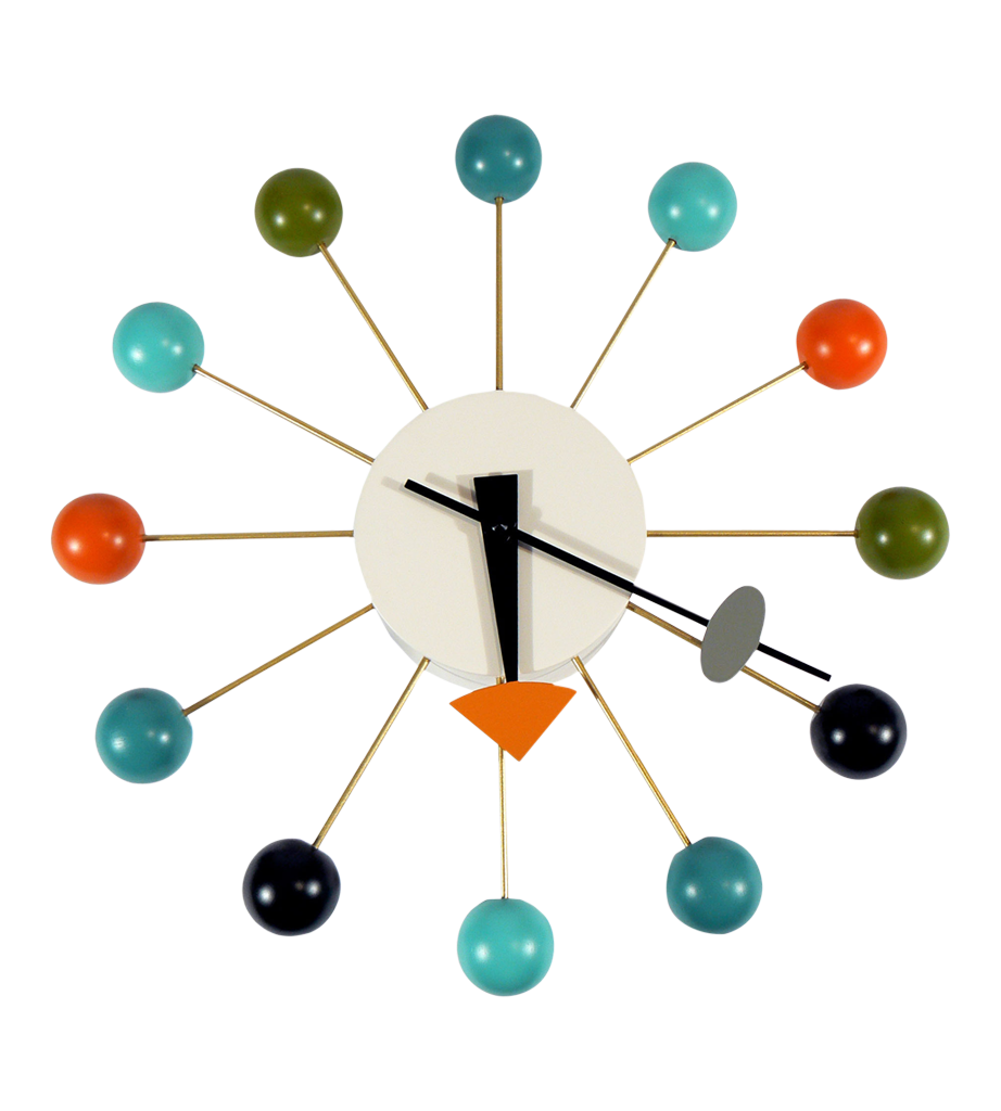 vitra ball clock by george nelson - vitra ball clock by george nelson multi coloured