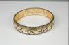 Bologna. Black, Gold & Sparkle-Oval bangle (sterling, 18K, cz)