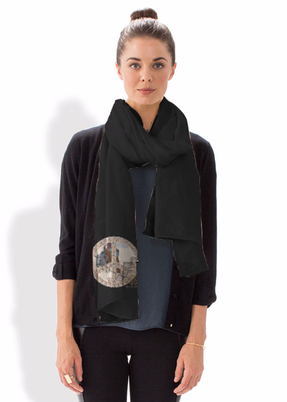 Modal Scarf. Art meets Fashion. Peace inside Peace, Cairo Egypt