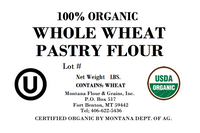 100% Organic Whole Wheat Pastry Flour