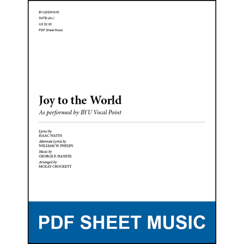Joy to the World (Arr. by McKay Crockett - SATB) [PDF Sheet Music]
