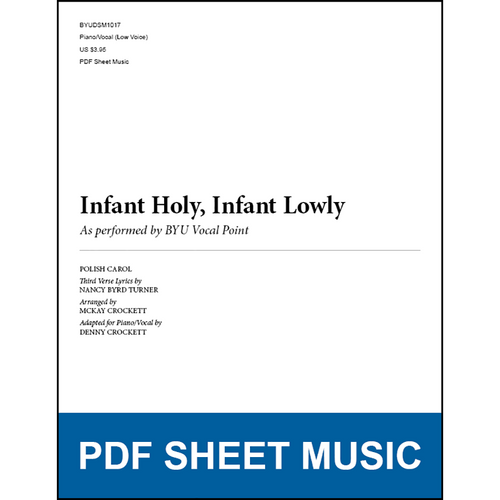 Infant Holy, Infant Lowly (Piano/Vocal - Low Voice) [PDF Sheet Music]