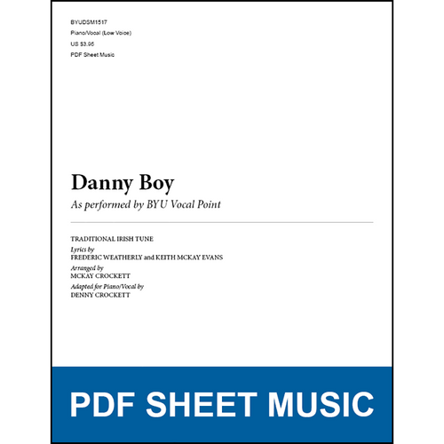Danny Boy (Piano/Vocal - Low Voice) [PDF Sheet Music]