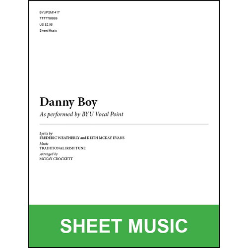 Danny Boy (Arr. by McKay Crockett - TTBB) [Physical Sheet Music]