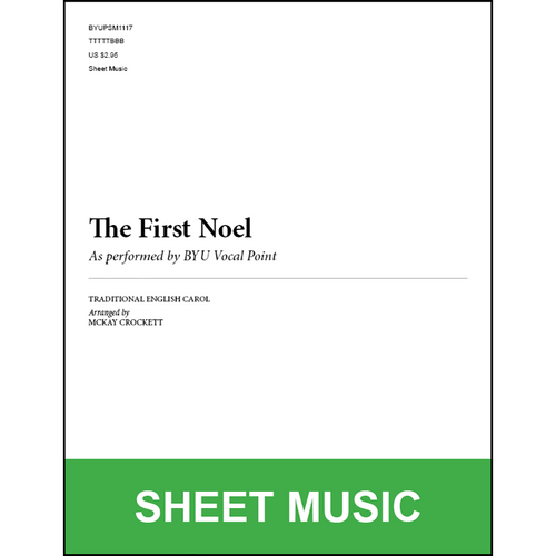 The First Noel (Arr. by McKay Crockett - TTBB) [Physical Sheet Music]