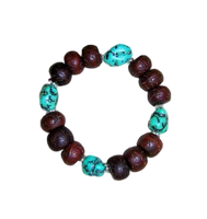 Turquoise and Bodhi Beads Wrist Mala