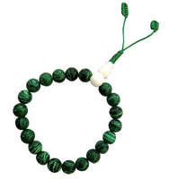 Malachite Wrist Mala 9-10 mm
