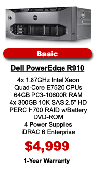 Dell PowerEdge R910 Basic Configuration