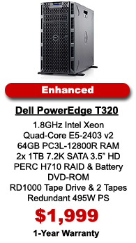 Dell PowerEdge T320 Server Enhanced Configuration