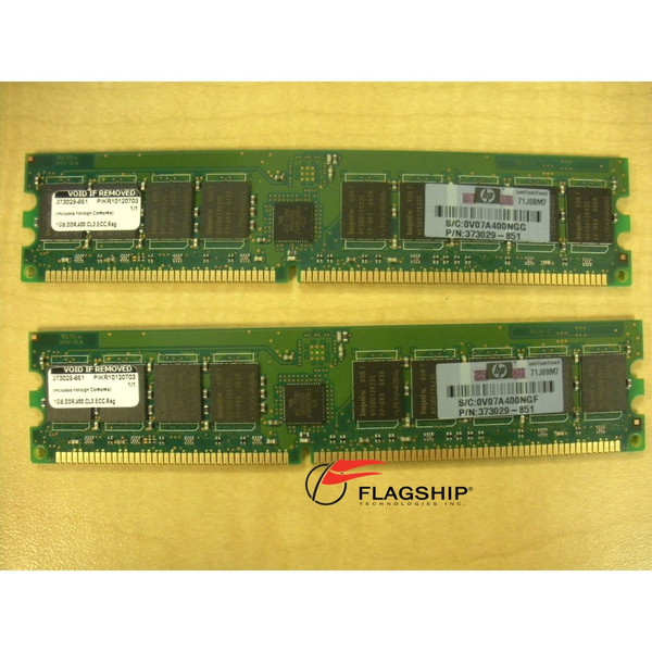 HP 376639-B21 2GB (2x 1GB) PC3200 Memory Kit for DL385 DL585