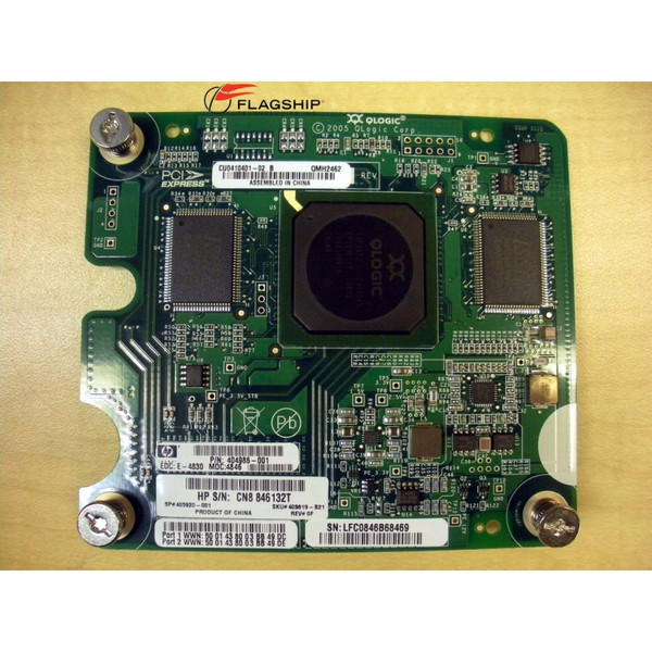 HP 404986-001 403619-B21 Qlogic QMH2462 4Gb FC Mezzanine Board for c-Class Blade