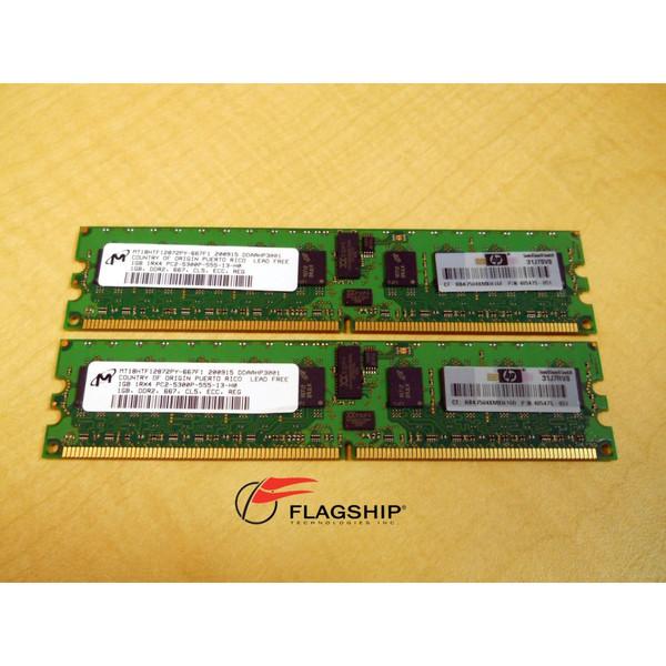 HP 408851-B21 2GB (2x 1GB) PC2-5300 Memory Kit 416356-001 405475-051