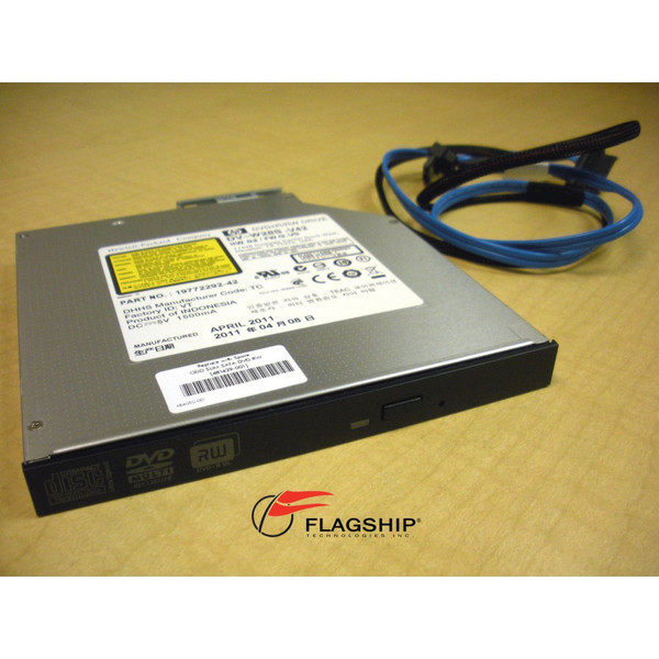 HP 481043-B21 481429-001 Slimline DVD-RW CD-RW SATA Optical Drive w/ SATA Cable