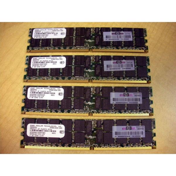 HP AB565A 8GB (4x 2GB) DDR2 Memory Kit for rx3600 rx6600 via Flagship Tech