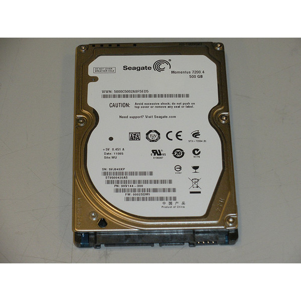 "500GB 7.2K SATA 2.5"" 3Gb/s Laptop Hard Drive Seagate Momentus ST9500420AS 9HV144-300"
