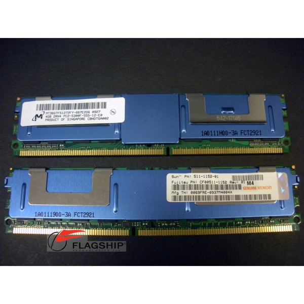 Sun SESX2C3Z  8GB (2x 4GB) Memory Kit 511-1152